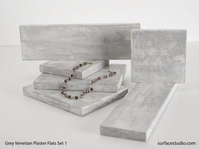 Grey Venetian Plaster Flats Set 1 (6) $35 - $40