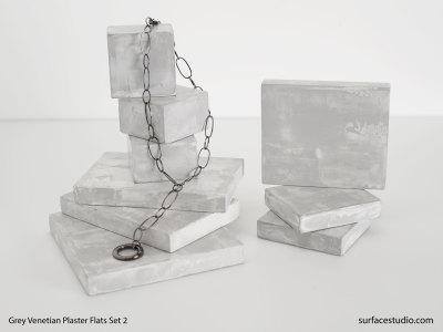 Grey Venetian Plaster Flats Set 2 (9) $25 - $35