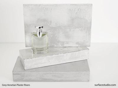Grey Venetian Plaster Risers (3) $50 - $60