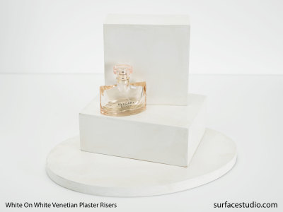 White on White Venetian Plaster Risers (3) $50 each
