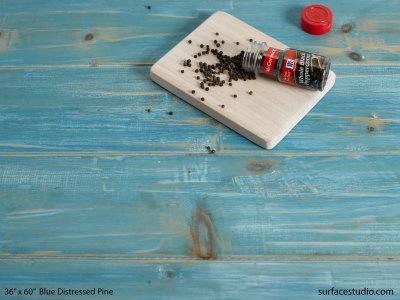 "Blue Distressed Pine (6"" Planks)"