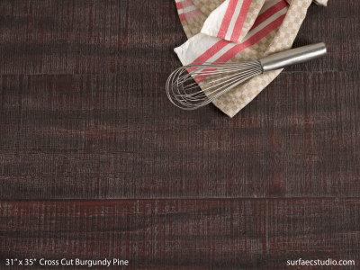 Cross Cut Burgundy Pine
