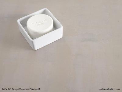 Taupe Venetian Plaster #4