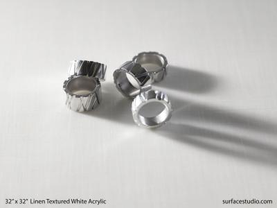 Linen Textured White Acrylic