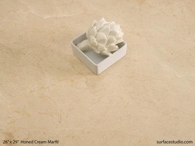 Honed Cream Marfil Marble (65 lbs)