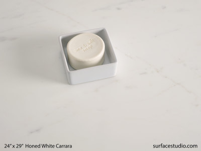Honed White Carrara Marble (60 lbs)