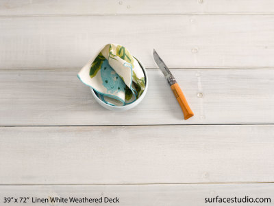 "Linen White Weathered Deck (5 ½"" Planks) (40 LBS)"
