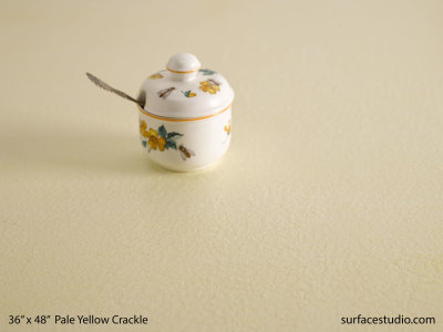 Pale Yellow Crackle