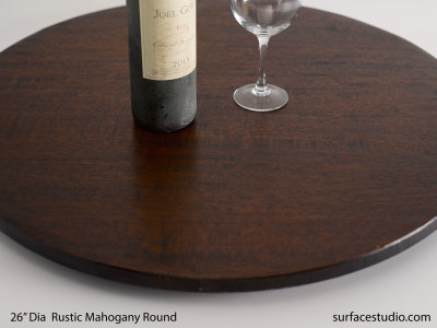 Rustic Mahogany Round