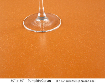 "Pumpkin Corian (1 ½"" Bullnose lip on one side)"
