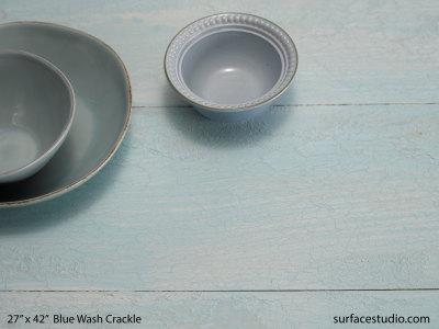 Blue Wash Crackle