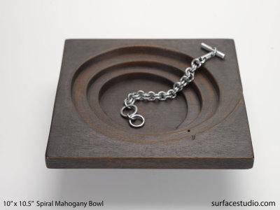 Spiral Mahogany Bowl
