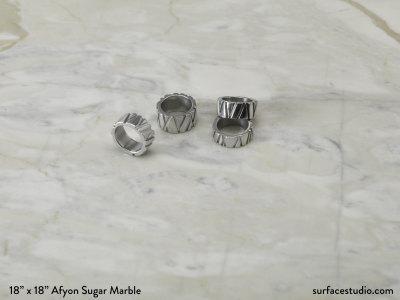 Afyon Sugar Marble Polished (15 lbs)
