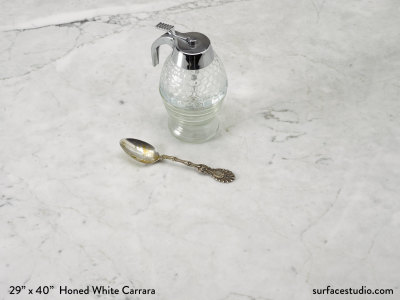 Honed White Carrara Marble (100 lbs)