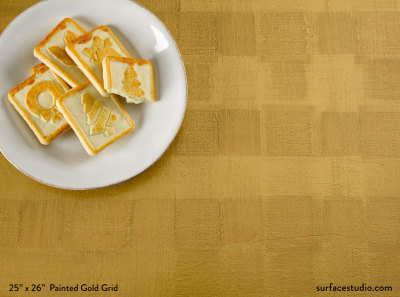 Painted Gold Grid