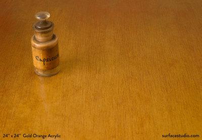Gold Orange Acrylic