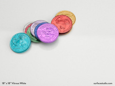 Vitrous White Polished Marble (15 lbs)