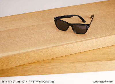 "White Oak Steps 2"" Lip all sides $125 each"