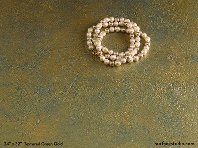 Textured Green Gold Metallic
