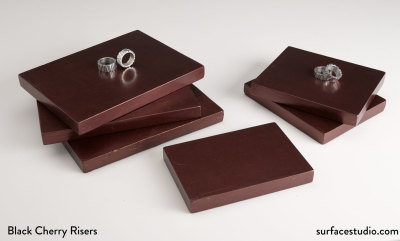 Black Cherry Metallic Risers (6)