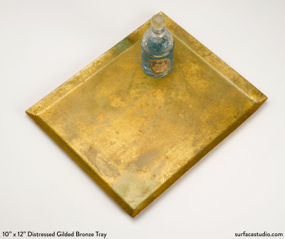 Distressed Gilded Bronze Tray