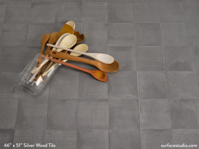 Silver Wood Tile (45 lbs)