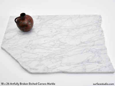 Artfully Broken Etched Carrara Marble (30 lbs)