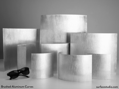 Brushed Aluminum Curves (8) - $40 - $50