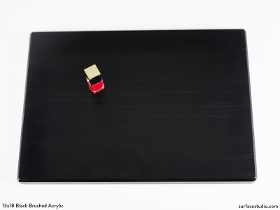 Black Brushed Acrylic