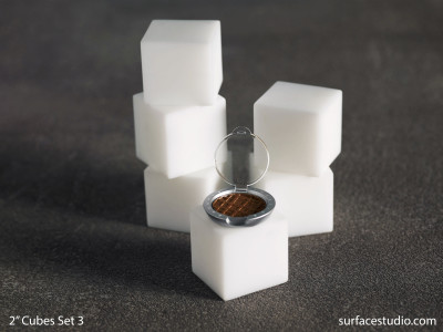 "Satin White 2"" Cubes Set 3 (6) $30 Each"