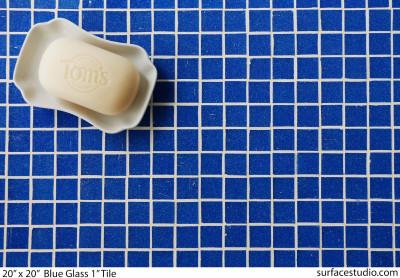 """Blue Glass 1"""" Tile"""