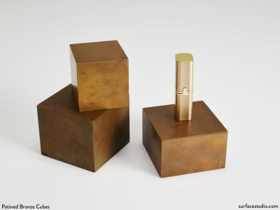Patined Bronze Cubes (3) $40 each
