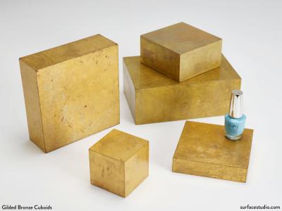 Gilded Bronze Cuboids (5) $30 - $45