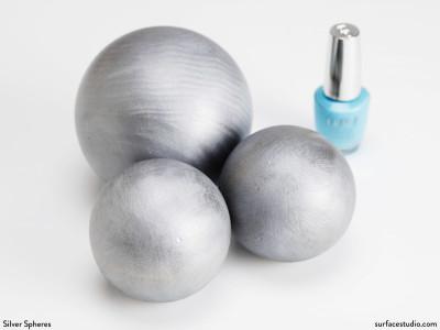 Silver Spheres (3) $20 - $25