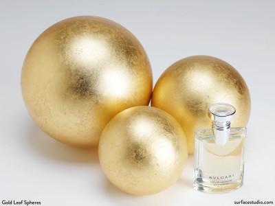 Gold Leaf Spheres (3) $35 - $55