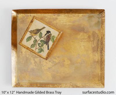 Handmade Gilded Brass Tray