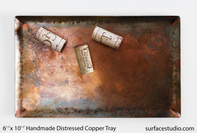 Handmade Distressed Copper Tray