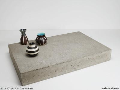 Large Cast Cement Riser (60 lbs)