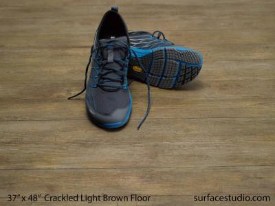 """Crackled Light Brown Floor (3"""" Planks)"""