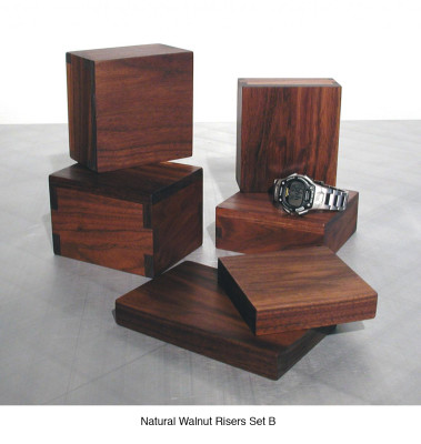 Natural Walnut Risers Set B (6) $30 - $35