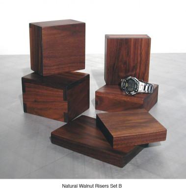 Natural Walnut Risers Set B (6) $30 - $35