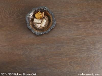 Pickled Brown Oak