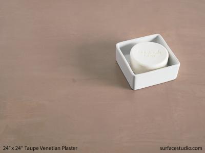 Taupe Venetian Plaster #3