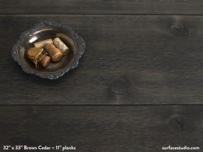 "Brown Cedar  (11"" Planks)"