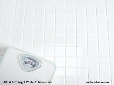 "Bright White 2"" Mosaic Tile (65 lbs)"