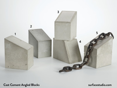 Cast Cement Angled Blocks (5) $40 Each