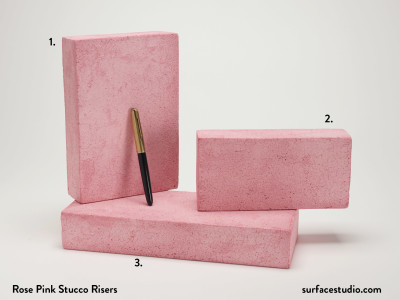 Rose Pink Stucco Risers (3) $40 each