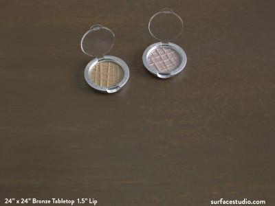 """Bronze Tabletop 1.5"""" Lip"""