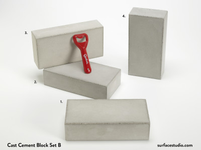 Cast Cement Block Set B (4) $45 each