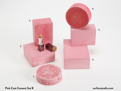 Pink Cast Cement Set B (6) $30 - $35 each